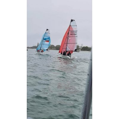 Kite for a Skud 18.  Ross won this sail from us during the 2020 Sail Paradise Regatta.